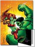 Hulk Team-Up No.1: Lyra and Hulk Prints by Steve Scott