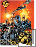 Ghost Rider V3 No.1 Cover: Ghost Rider Prints by Trent Kaniuga