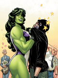 She-Hulk No.38 Cover: She-Hulk Plastic Sign by David Williams