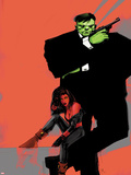 Incredible Hulks No.626 Cover: Hulk and Red She-Hulk Plastic Sign by  Jock