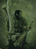 Skaar: Son of Hulk No.11 Cover: Skaar Plastic Sign by Travis Charest