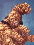Fantastic Four No.601 Cover: Thing with his Fist at the Ready Plastic Sign by Mike Choi