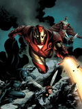 Steve Epting - Iron Man No.85 Cover: Iron Man, Falcon, Wasp, Ant-man, Black Panther and Avengers Plastové cedule