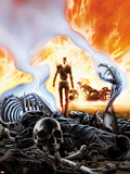 Ghost Rider No.6 Cover Plastic Sign by Ron Garney
