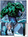 Hulk Team-Up No.1 Group: Hulk, Angel and Iceman Prints by Sanford Greene