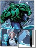 Hulk Team-Up No.1 Group: Hulk, Angel and Iceman Prints by Sanford Greene