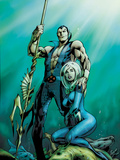 Fantastic Four No.585 Cover: Namor and Invisible Woman Posing Pósters por Alan Davis