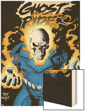Ghost Rider: Highway To Hell Cover: Ghost Rider Wood Print by Mark Texeira