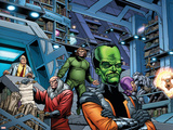 Fall of the Hulks: Alpha No.1 Group: Egghead, Red Ghost, Mad Thinker and Leader Plastic Sign by Paul Pelletier