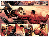 Hulk No.37: Panels with Thing and Red Hulk Fighting Prints by Elena Casagrande