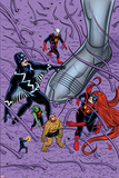Ff 14 Cover: Black Bolt, Ant-Man, She-Hulk, Human Torch, Ms. Thing, Medusa Wall Decal by Michael Allred