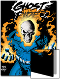 Ghost Rider: Highway To Hell Cover: Ghost Rider Print by Mark Texeira