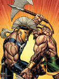 Incredible Hercules No.113 Cover: Hercules and Ares Plastic Sign by Arthur Adams