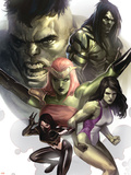 Hulk Family: Green Genes No.1 Cover: Hulk, She-Hulk, Skaar, Scorpion and Daughter Of Hulk Plastic Sign