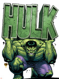 Marvel Adventures Hulk No.4 Cover: Hulk Wall Decal by David Nakayama