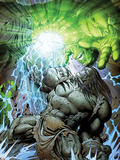Incredible Hulk No.611 Cover: Skaar and Hulk Fighting and Smashing Plastic Sign by Paul Pelletier