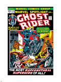 Marvel Spotlight Ghost Rider No.5 Cover: Ghost Rider Plastic Sign by Mike Ploog