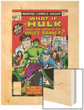 What If No.2 Cover: Hulk, Thunderbolt Ross, Banner and Bruce Wood Print by Herb Trimpe