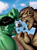 Hulk: Destruction No.2 Cover: Hulk and Abomination Plastic Sign by Trevor Hairsine