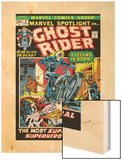 Marvel Spotlight Ghost Rider No.5 Cover: Ghost Rider Wood Print by Mike Ploog