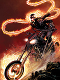 Ghost Rider No.1: Ghost Rider Flaming and Riding a Motorcycle Wall Decal by Matthew Clark