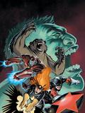 Hulk: Winter Guard No.1 Cover: Darkstar, Crimson Dynamo, Ursa Major, Red Guardian and Hulk Wall Decal by Steve Ellis