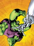 Marvel Adventures Hulk No.7 Cover: Hulk and Silver Surfer Plastic Sign by Juan Santacruz