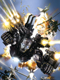 War Machine No.1 Cover: War Machine Wall Decal by Leonardo Manco