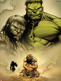 Incredible Hulk No.611: Hulk and Skaar Plastic Sign by Paul Pelletier