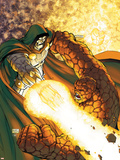Fantastic Four No.552 Cover: Dr. Doom and Thing Wall Decal by Michael Turner