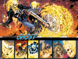 Ghost Rider No.0.1: Panels with Ghost Rider Flaming and Riding a Motorcycle Wall Decal by Matthew Clark