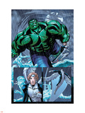Hulk Team-Up No.1 Group: Hulk, Angel and Iceman Wall Decal by Sanford Greene