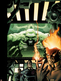Incredible Hulk No.84 Cover: Hulk, Pyro and Vanisher Wall Decal by Andy Brase