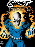Ghost Rider: Highway To Hell Cover: Ghost Rider Plastic Sign by Mark Texeira
