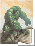 Gamma Games No.3 Cover: Hulk Wood Print by Alvin Lee