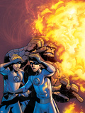 Fantastic Four No.519 Cover: Human Torch and Thing Plastic Sign by Mike Wieringo