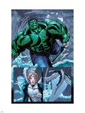 Hulk Team-Up No.1 Group: Hulk, Angel and Iceman Plastic Sign by Sanford Greene