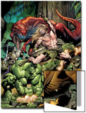 Incredible Hulks No.623 Cover: Ka-Zar and Hulk Fighting Posters by Dale Eaglesham