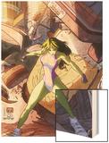 She-Hulk No.37 Cover: She-Hulk Wood Print by Vincenzo Cucca