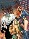 She-Hulk No.12 Cover: Walters, Jennifer, Titania, Thing and Hercules Plastic Sign by Mike Mayhew