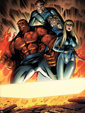 Fantastic Four No.552 Group: Thing, Mr. Fantastic, Invisible Woman and Human Torch Plastic Sign by Paul Pelletier