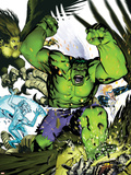 Hulk Team-Up No.1 Cover: Hulk, Iceman and Angel Cartel de plástico por Michael Golden