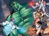 Incredible Hulks: Enigma Force No.3: Hulk, Hiro-Kala, Princess Marionette, Carl, and Bug Charging Wall Decal by Miguel Munera