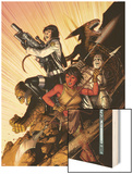 WWH Aftersmash: Warbound No.5 Cover: Elloe, Hiroim, Korg and No-Name Wood Print by Jim Cheung