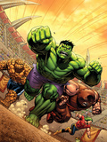 Marvel Adventures Hulk No.12 Cover: Hulk, Thing and Juggernaut Posters by David Nakayama