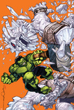 Indestructible Hulk 7 Cover: Hulk , Mjolnir, Frost Giant Plastic Sign by Walt Simonson