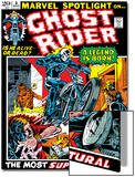 Marvel Spotlight Ghost Rider No.5 Cover: Ghost Rider Affiches par Mike Ploog