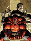 Hulk No.46 Cover: Red Hulk Yelling Plastic Sign by Patrick Zircher