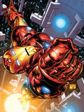 The Invincible Iron Man No.1 Cover: Iron Man Plastic Sign by Joe Quesada