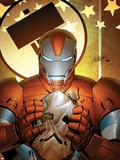 Invincible Iron Man No.19 Cover: Iron Patriot Plastic Sign by Salvador Larroca